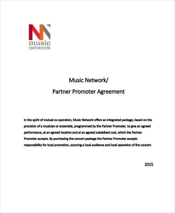 music network partner promoter agreement