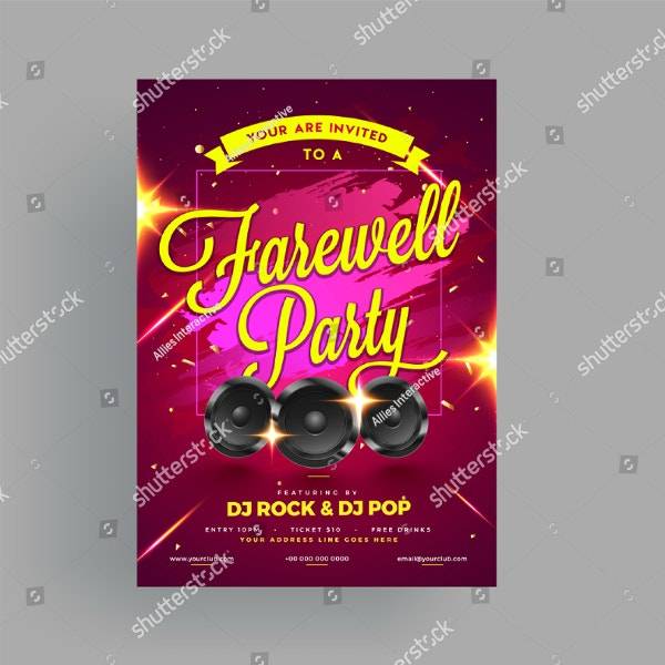 music themed farewell party invitation
