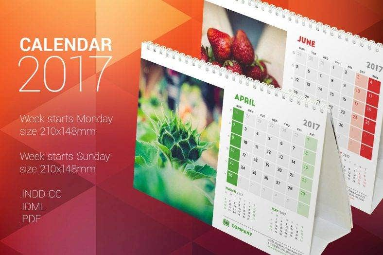 nature table calendar template 788x524