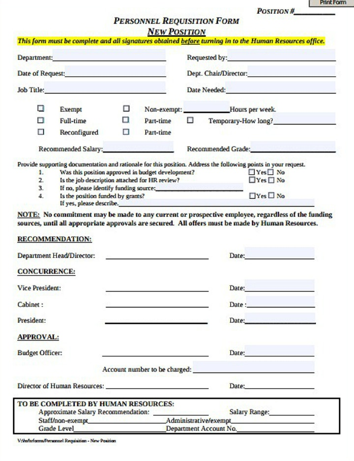 new-position-personnel-requisition-form-template