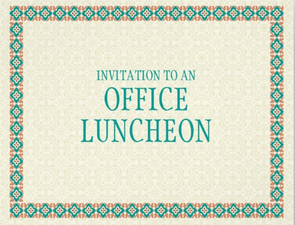 Office Luncheon Invitation