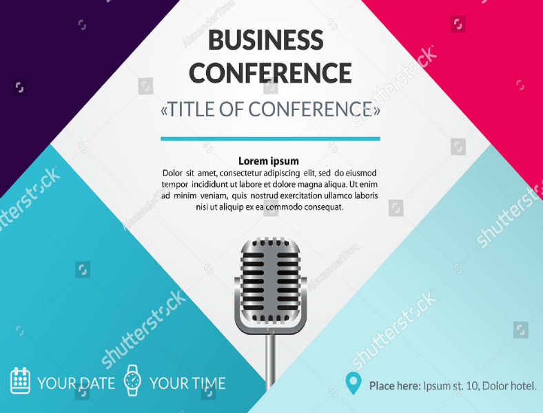 Official Business Conference Meeting Invitation Template