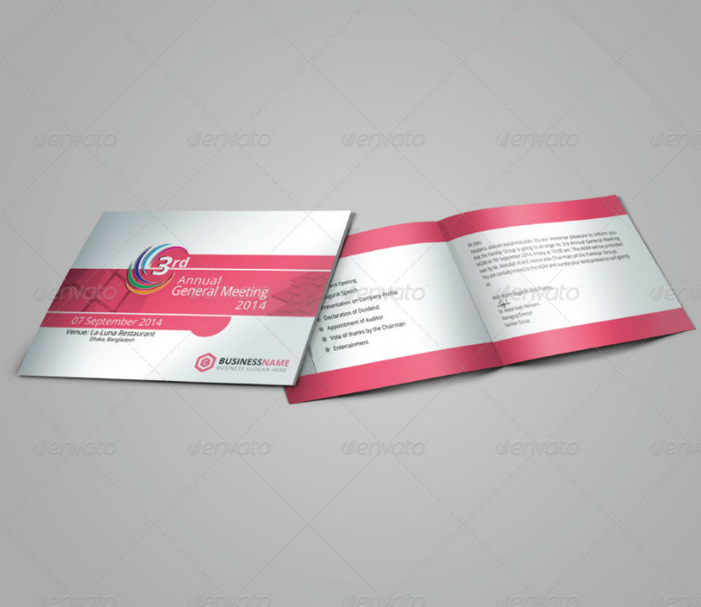 Official Corporate Meeting Invitation Template