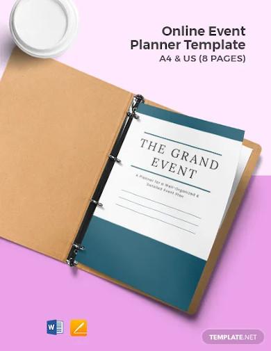online event planner template