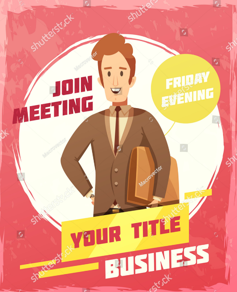 Painting Official Meeting Invitation Template