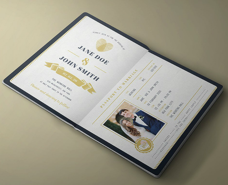 passport wedding invitation format template 788x642