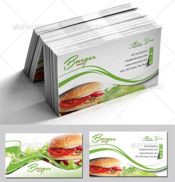 Pastel Fast Food Business Card Template