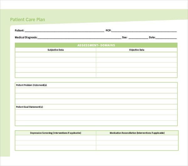 13+ Patient Care Plan Templates - PDF, Docs | Free ...