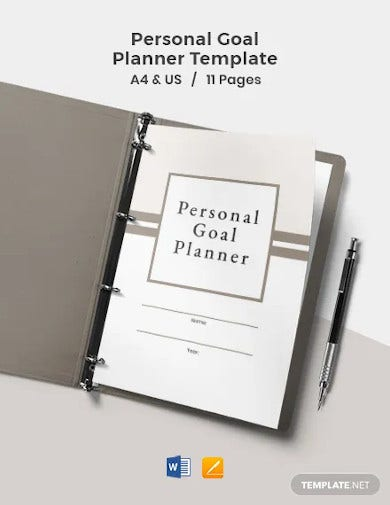personal goal planner template