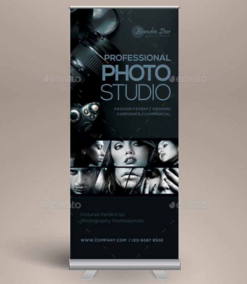 Photo Studio Rollup Banner Template