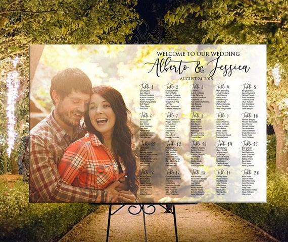 photo wedding seating chart 1