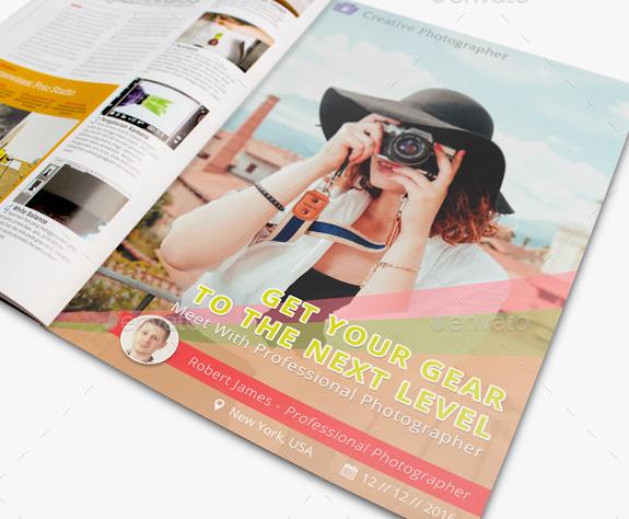 photography magazine advertisement mockup
