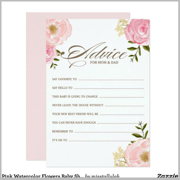 pink-watercolor-flowers-baby-advice-card-design