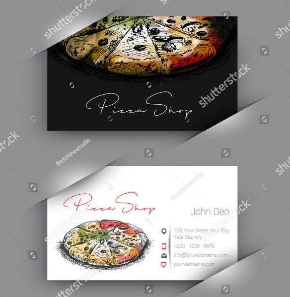 14 fast food business card designs templates psd ai free pizza shop fast food business card template cheaphphosting