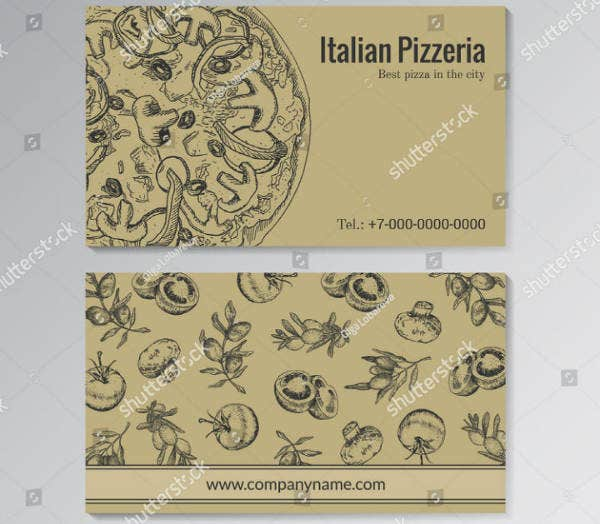 pizzeria fast food business card template
