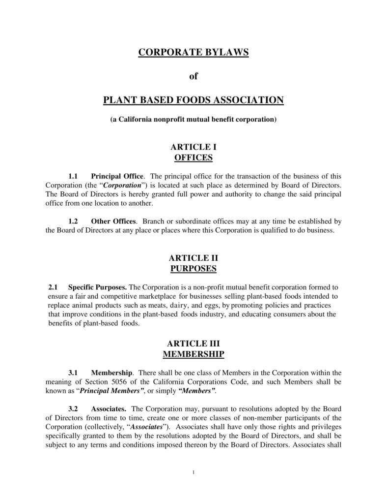 9 corporate bylaws templates pdf free premium templates for Corporate bylaw template