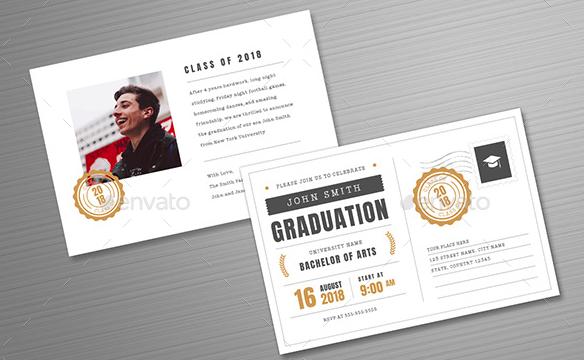 Postcard Graduation Invitation