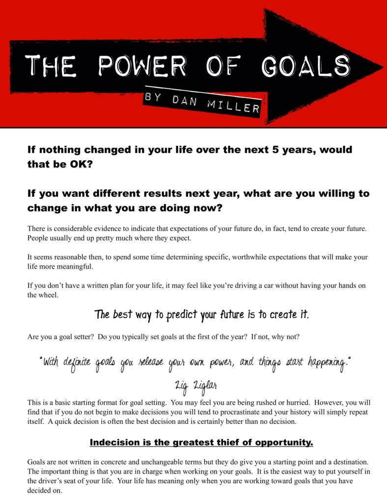 Power of Goals
