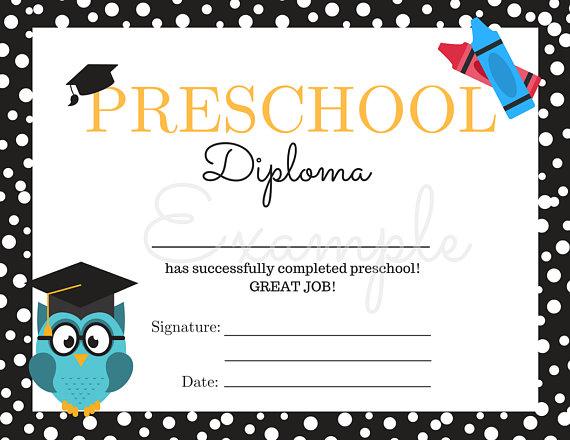 14+ Preschool Graduation Certificate Designs & Templates ...