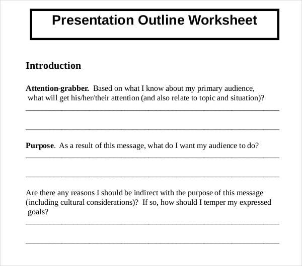 9+ Presentation Outline Templates