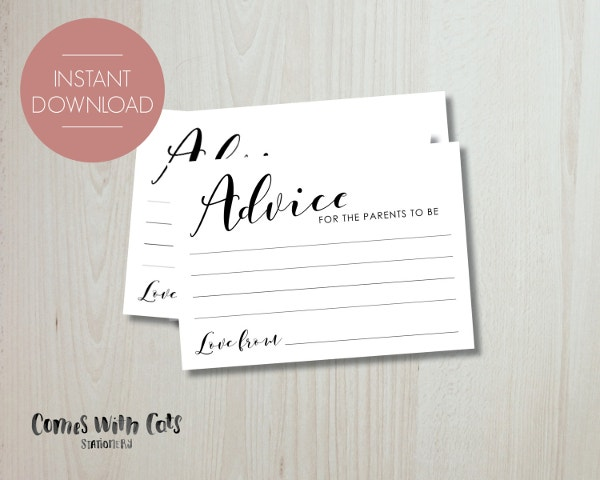 Primrose Advice Card Template