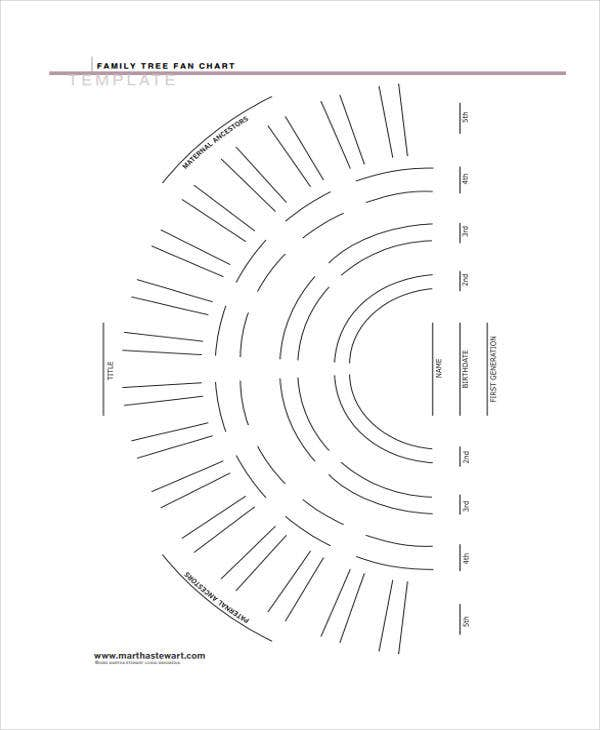 printable family tree fan diagram