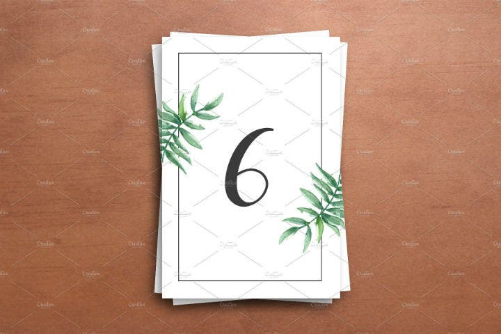 printable-greenery-style-wedding-table-number