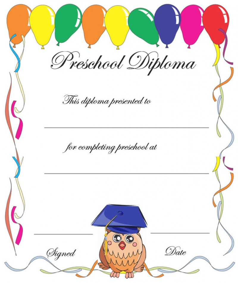 Magic image throughout preschool certificates printable