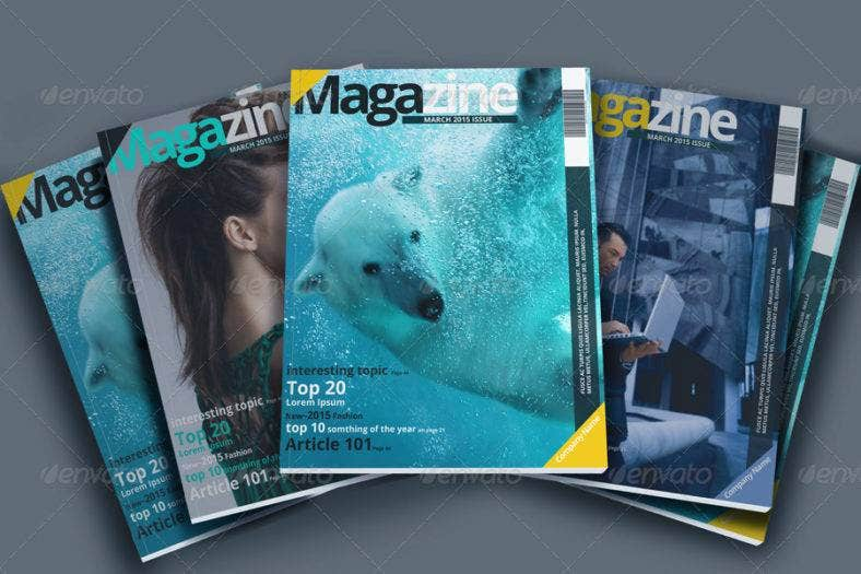 professional magazine template 788x525