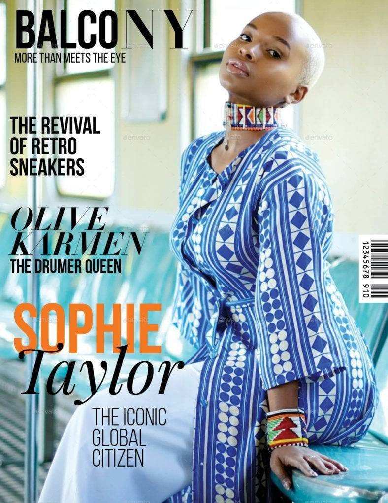professionally designed magazine template 788x1020