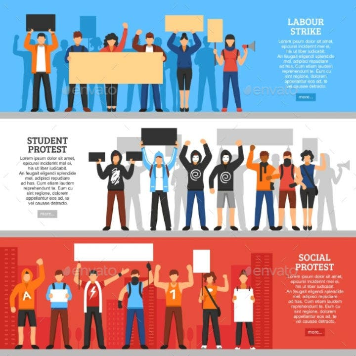 protesting-crowd-horizontal-name-placard-banner-template
