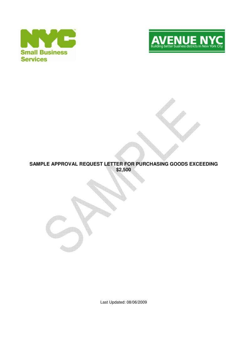 9 Request For Approval Letter Templates Pdf Free Premium