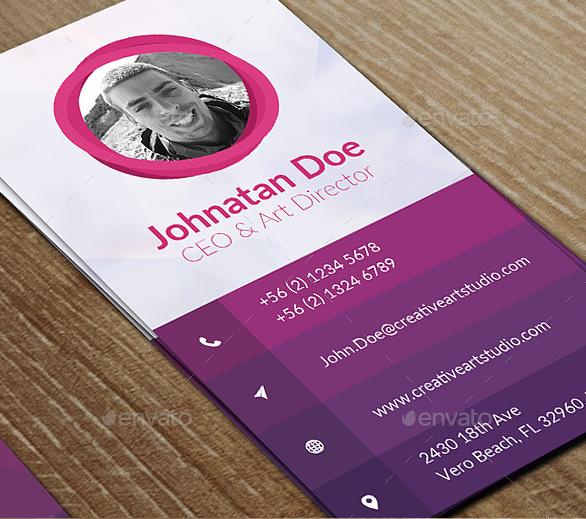15+ Vertical Business Card Templates