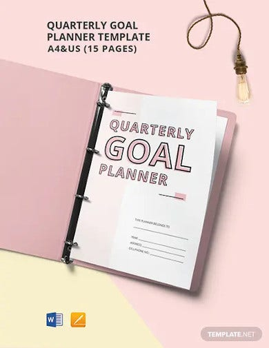 quarterly goal planner template