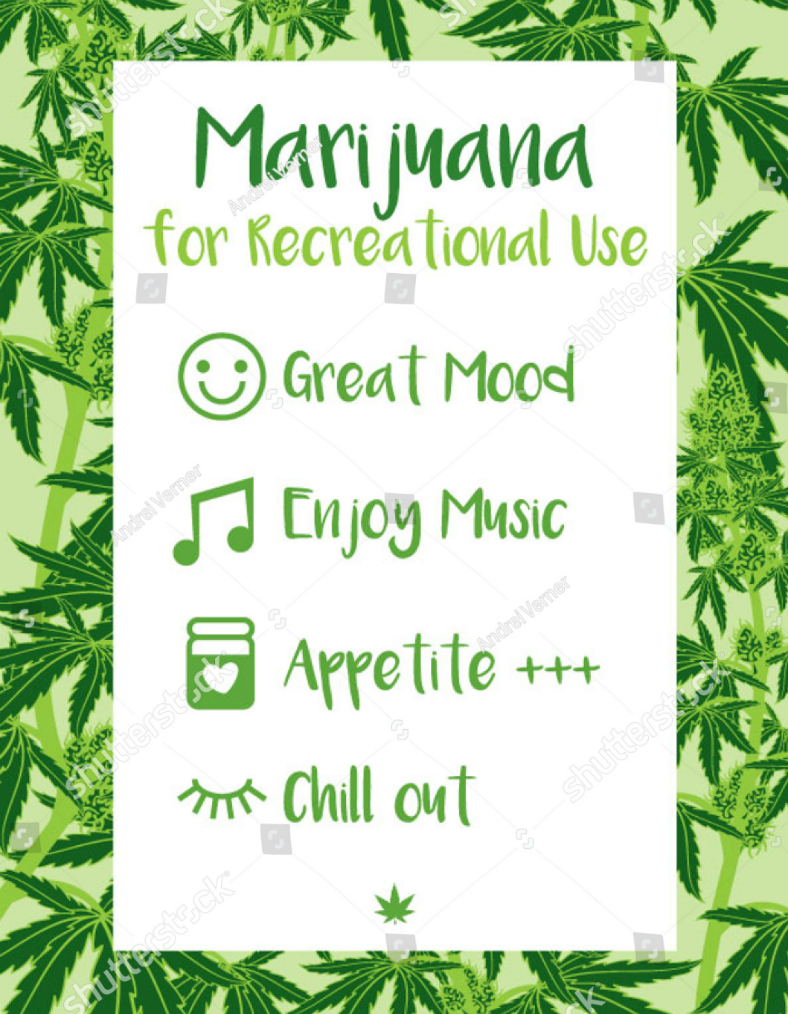 Recreational Marijuana Cannabis Flyer Template