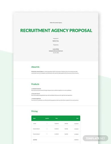 recruitment agency proposal template