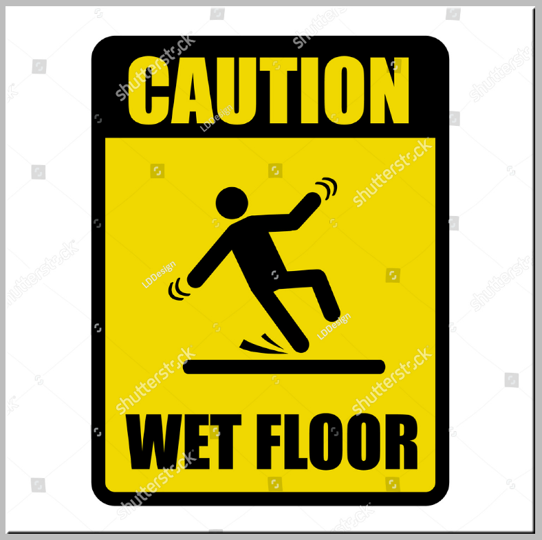 Rectangular Wet Floor Caution Sign Template
