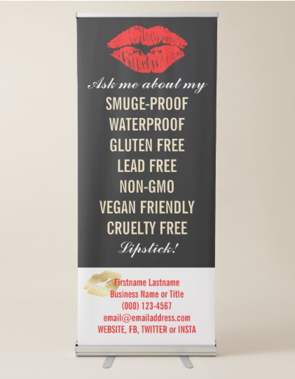 Red Lips on Black and White Product Info Banner