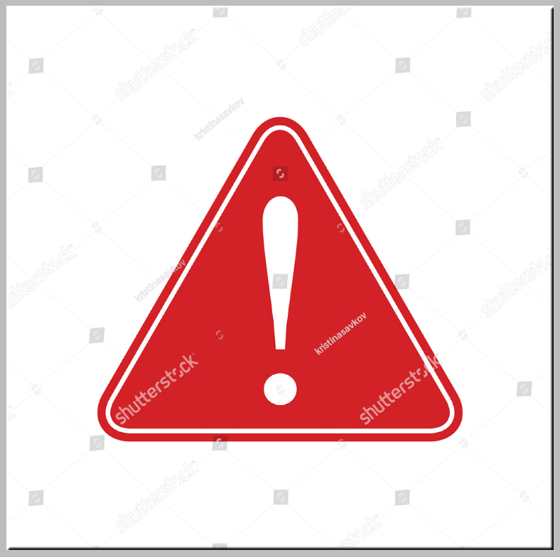 Red Triangular Caution Signage Template