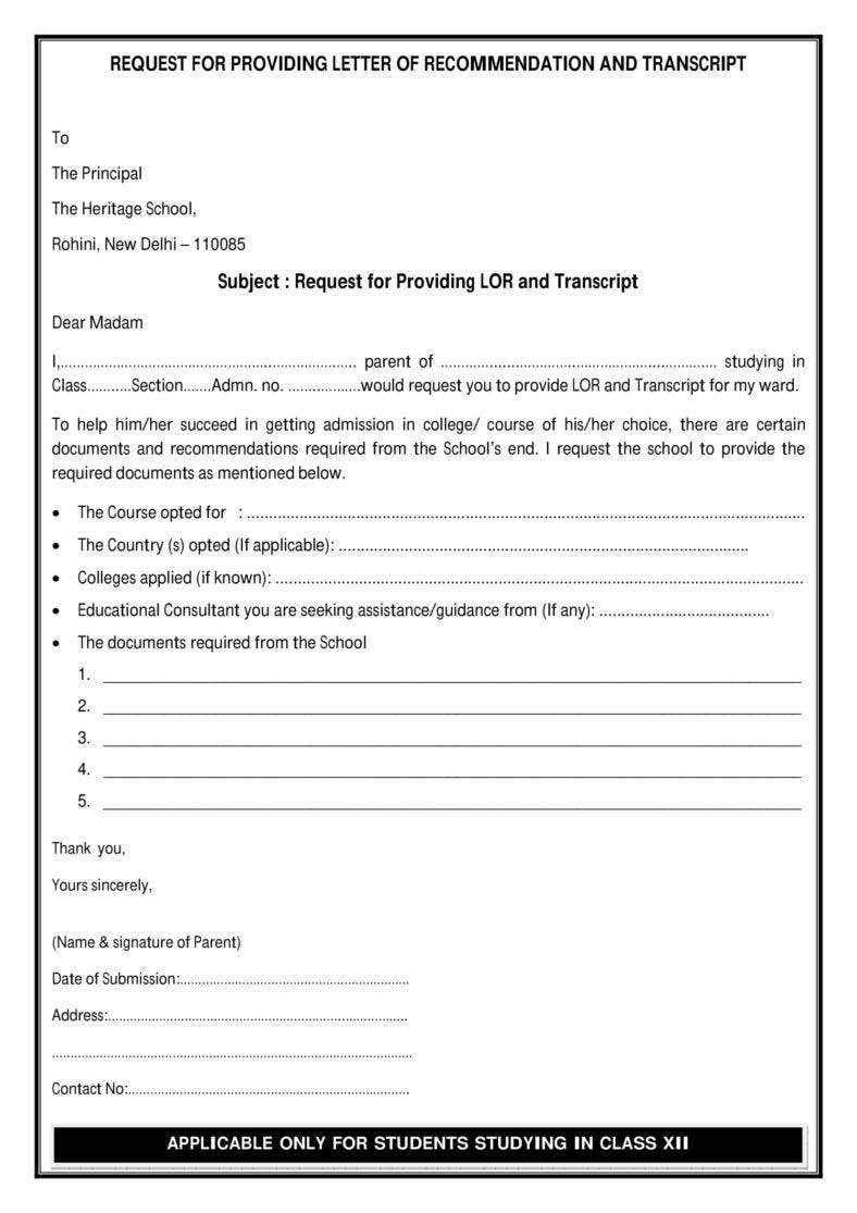 12  request letter to a principal templates