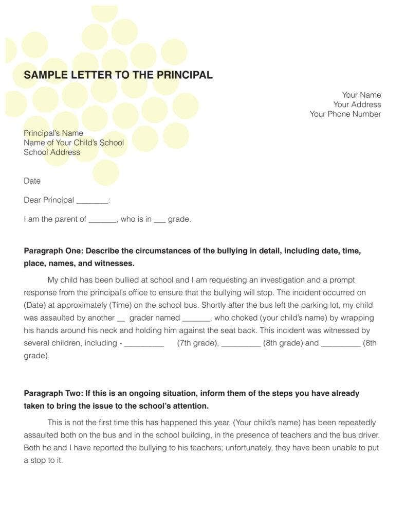 request letter sample for school