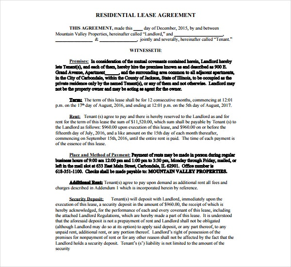 5 residential lease agreement templates pdf free premium 5 residential lease agreement templates pdf platinumwayz