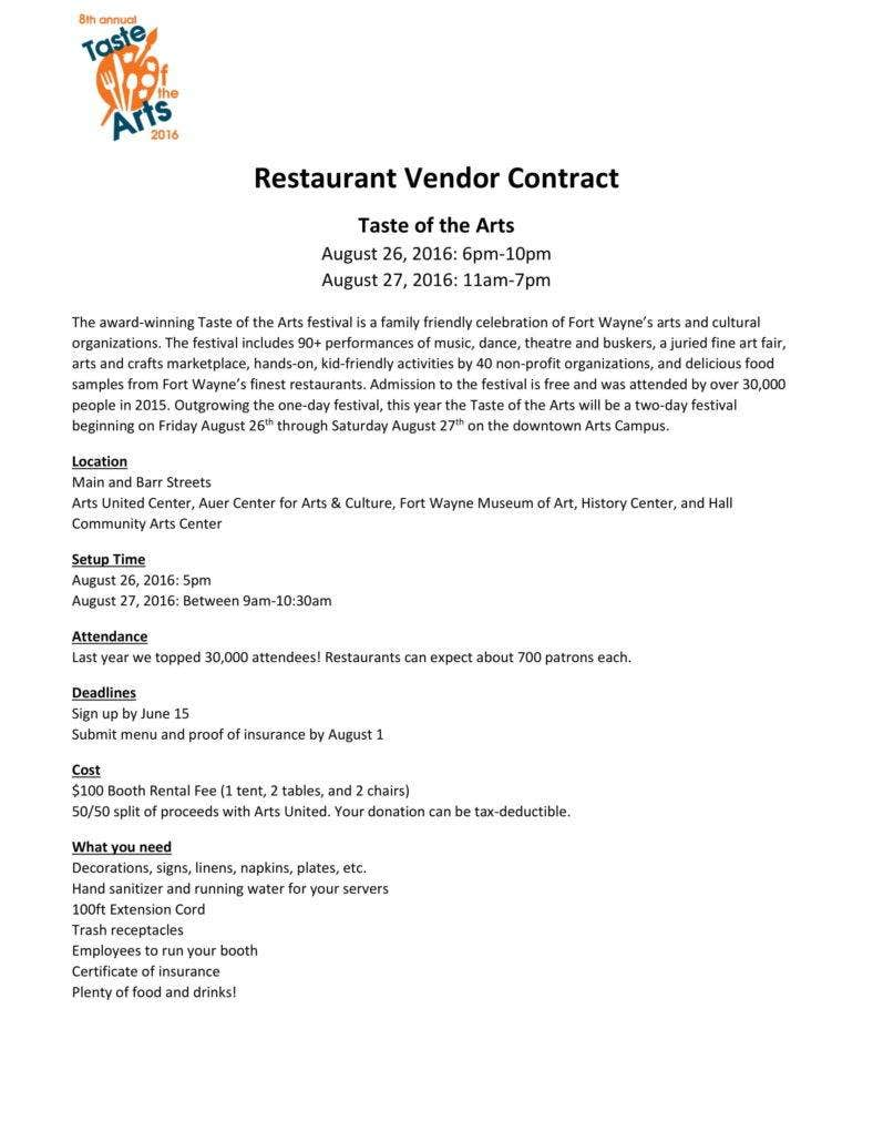 Restaurant-Vendor-Contract