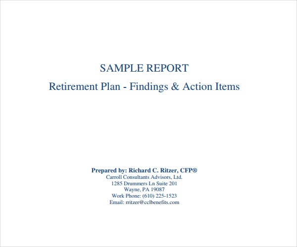 retirement program sample
