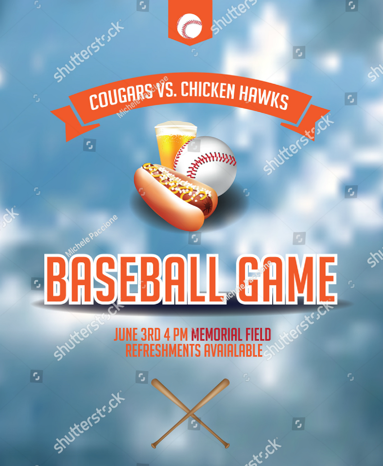 Sample Baseball Game Invitation Template