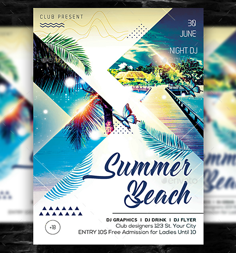 sample modern beach flyer template 788x844