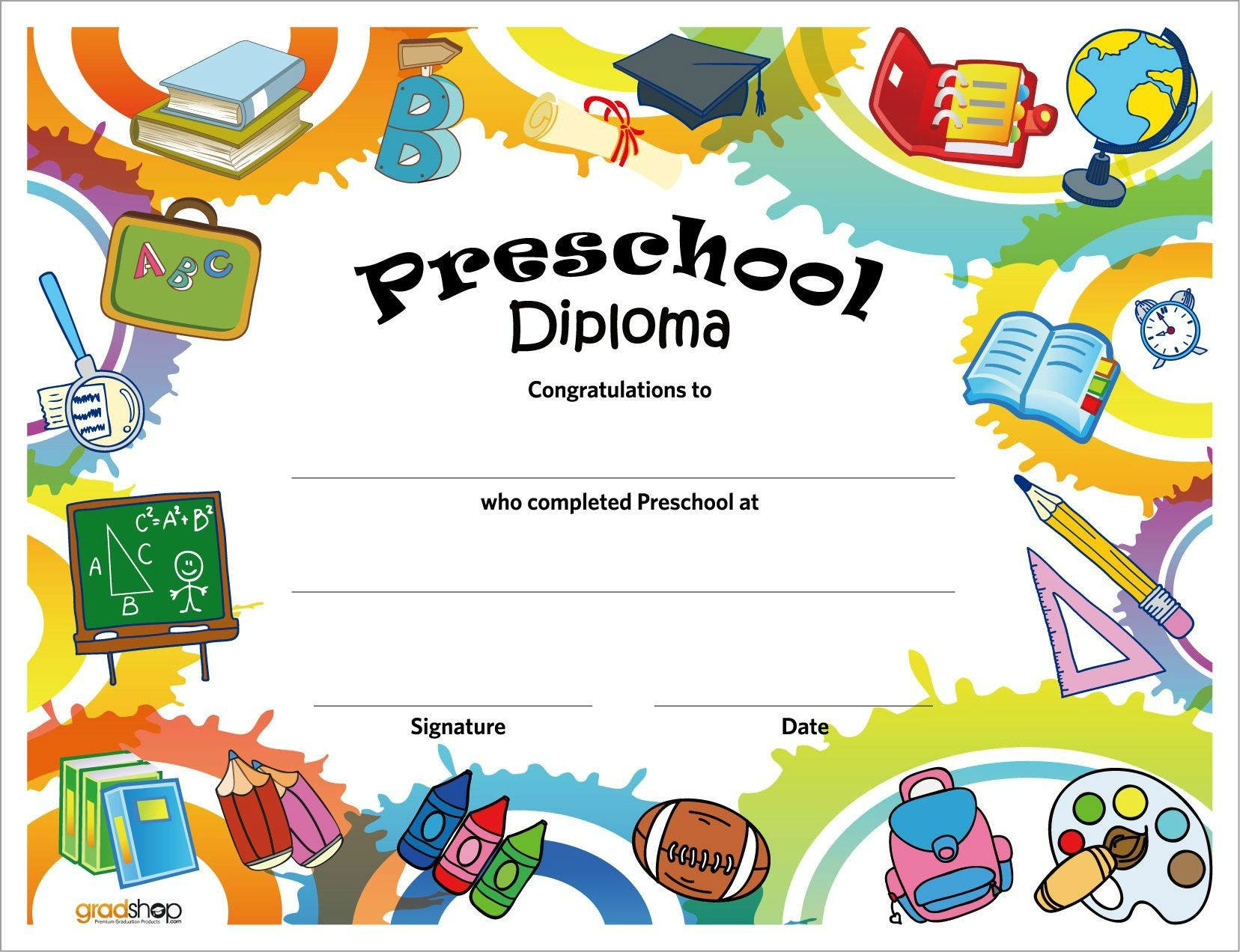Epic image pertaining to printable preschool graduation certificates