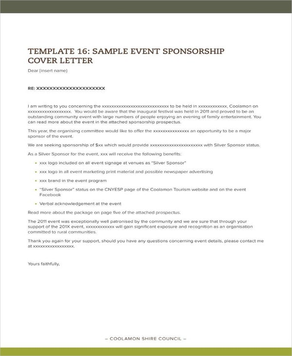 10  sponsorship letter for event templates