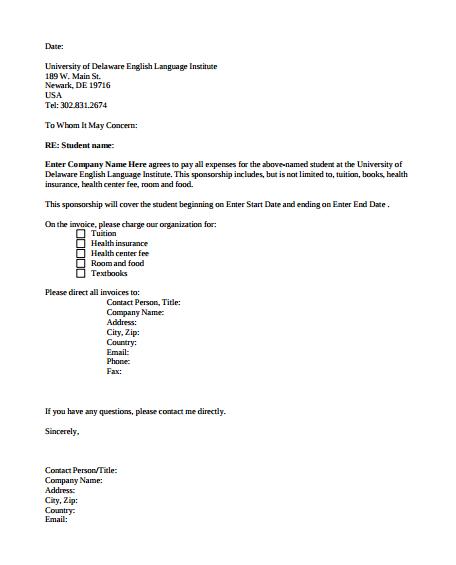 19 Sponsorship Letter Templates Pdf Free Premium Templates