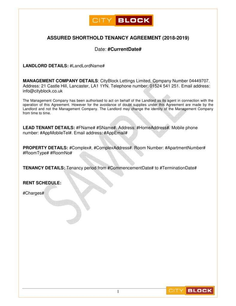 9 Simple Tenancy Agreement Templates Pdf Free Premium Templates